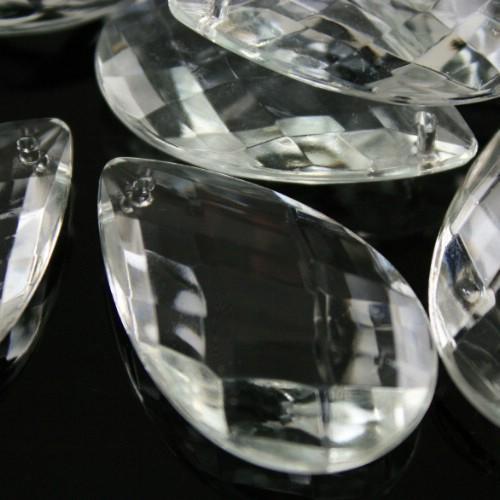 Mandorla 38 mm goccia pendente vetro veneziano, disegno a rete