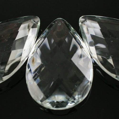 Mandorla 50 mm, disegno a rete, goccia pendente vetro veneziano