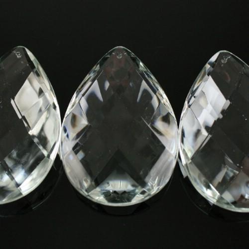 Mandorla 76 mm, disegno a rete, goccia pendente vetro veneziano