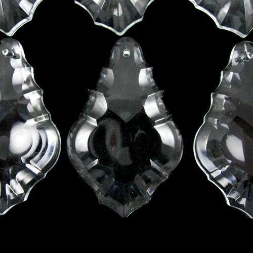 Pendente foglia 76 mm vetro veneziano colore puro cristallino