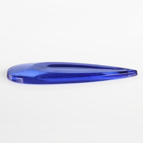 Pendente goccia lacrima 100 mm vetro veneziano colore puro blu.