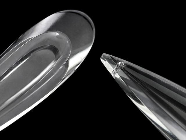 Pendente goccia lacrima 100 mm vetro veneziano colore puro cristallino