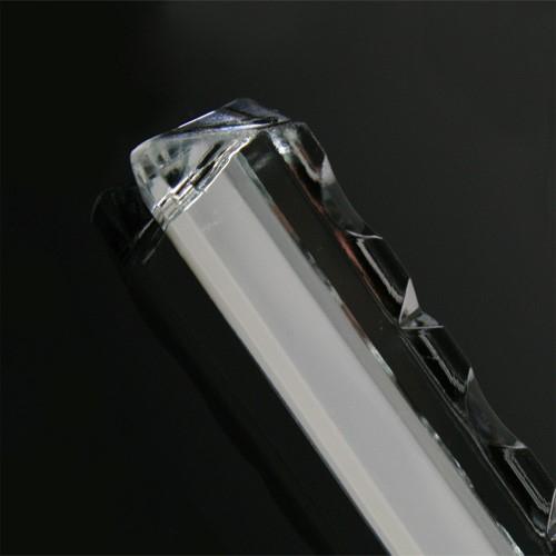 Pendaglio freccia 100 mm con foro in vetro cristallo stampato lucidato
