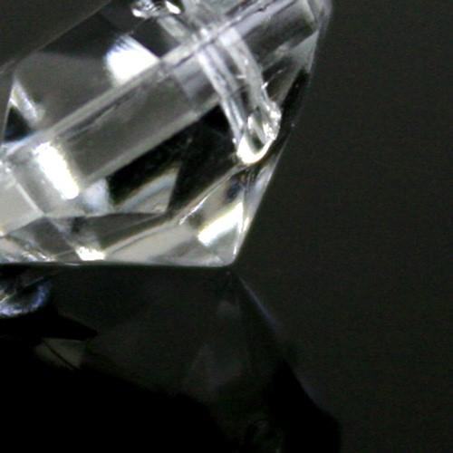 Ottagono 12 mm vetro veneziano colore puro trasparente, 2 fori