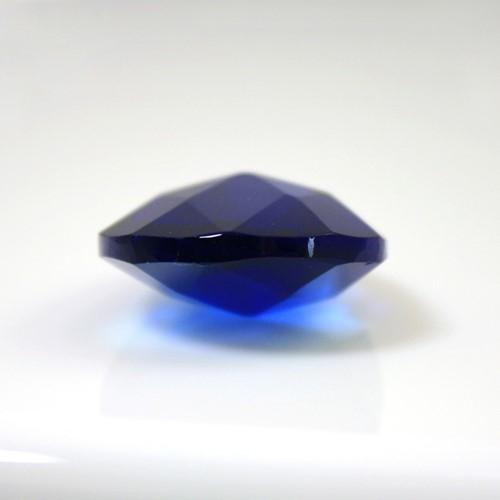 Mandorla pendente 28 mm vetro cristallo molato blue
