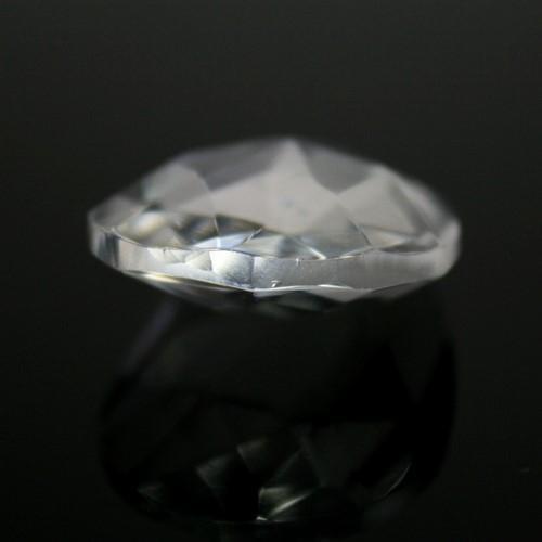 Mandorla pendente 28 mm cristallo vetro molato colore puro taglio classico