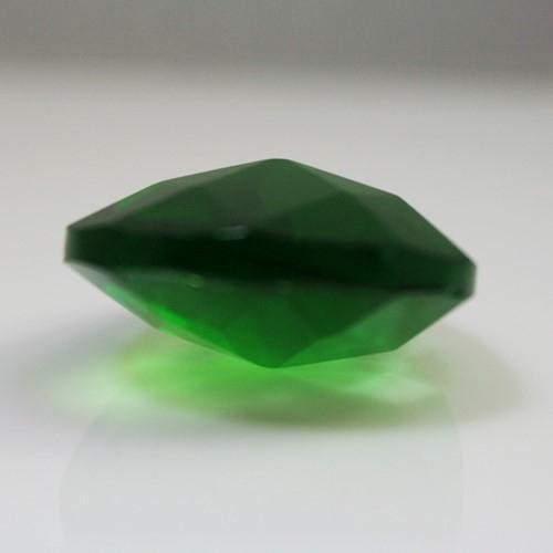 Mandorla pendente 28 mm vetro molato cristallo verde