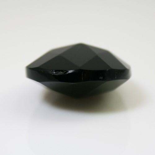 Mandorla pendente 38 mm vetro cristallo molato nero