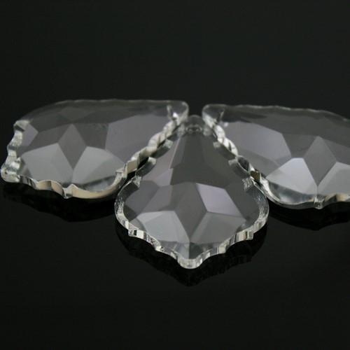 Foglia barocca 63 mm colore puro, pendaglio cristallo vetro molato
