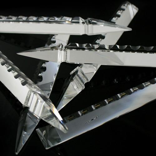 Pendaglio freccia 150 mm, pendente con foro, vetro cristallo molato lucidato