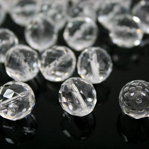 Perla sfaccettata 16 mm mezzo cristallo colore puro