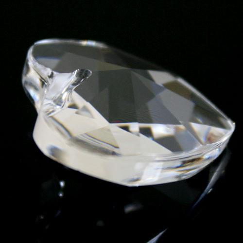 Pendaglio cuore 28 mm cristallo piombo 30% -Asfour 870-