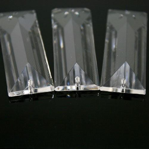 Losanga baguette 76 mm doppio foro cristallo Asfour Pb 30% -Asfour 610-