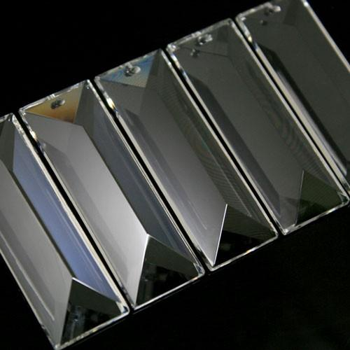 Losanga baguette 63 mm foro singolo cristallo Asfour Pb 30% -Asfour 611-