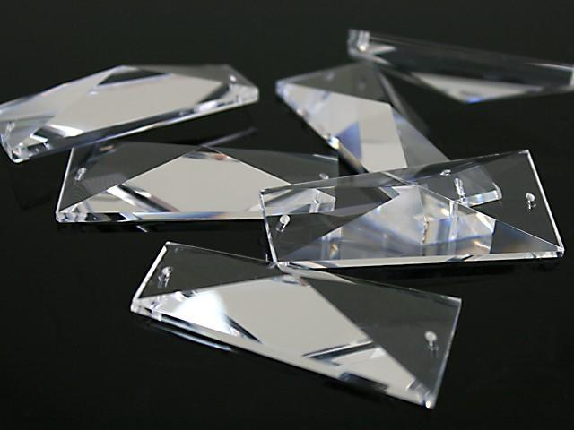 Losanga trapezio purissimo cristallo molato, 58x26 mm -Asfour 604-