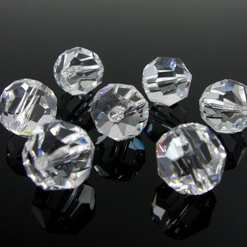 Perla 8 mm sfaccettata cristallo -Asfour 1502-