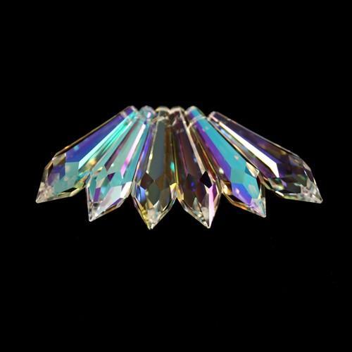 Pendente prisma Swarovski sfaccettato 40 mm Aurora Boreale - 8611