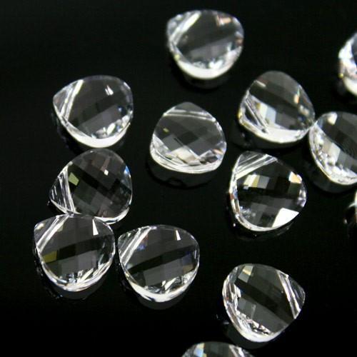 Pendaglio Petalo Swarovski taglio a rete da 11 mm color cristallo - 6012 -