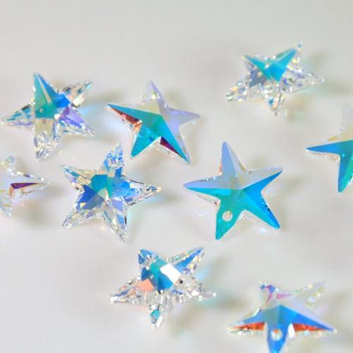 Pendaglio Swarovski stella Aurora Boreale 20 mm - 6714 -