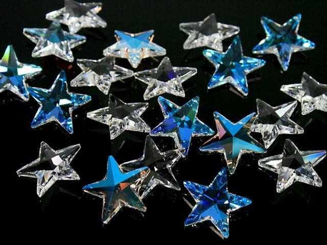 Pendaglio Swarovski stella Aurora Boreale 28 mm - 6714 -