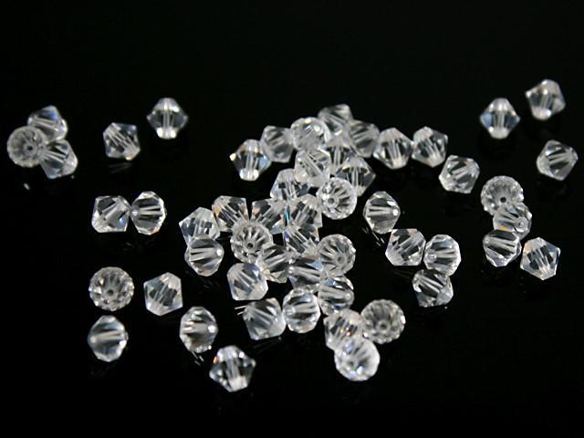Perla bicono 7 mm cristallo trasparente 8505 Swarovski bead