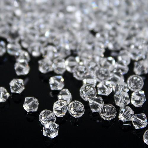 Perla bicono colore puro 4 mm cristallo Swarovski 5328 bead