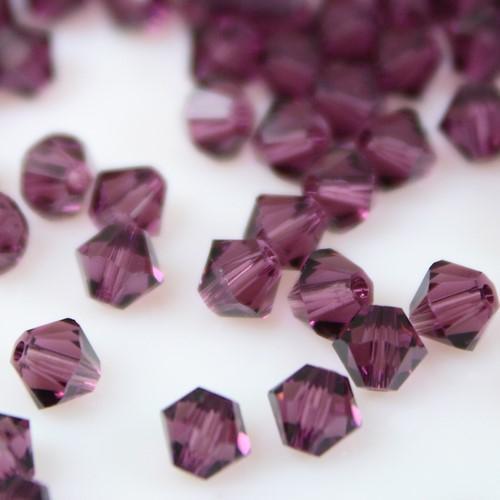 Perla bicono Amethyst 4 mm cristallo Swarovski 5328 bead