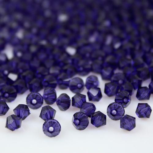 Perla bicono Purple Velvet 4 mm cristallo Swarovski 5328 bead