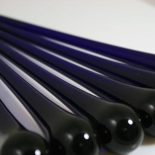 Goccia pendente 16 cm vetro di Murano blue cobalto in fogo