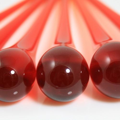 Goccia pendente 16 cm vetro di Murano rosso