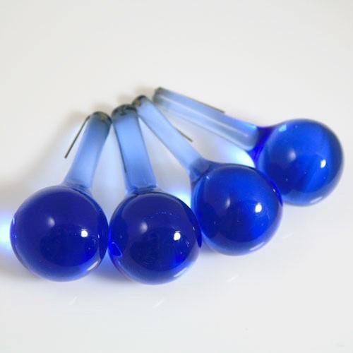 Goccia rotonda 55 mm in vetro Murano blue zaffiro