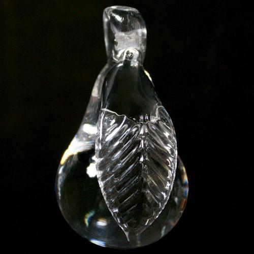 Frutto pendente vetro di Murano. Pera cristallo puro.