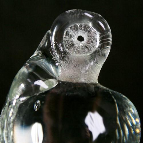 Frutto pendente vetro di Murano con codolo forato. Mela cristallo puro.