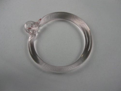 Anello pendente Int. Ø43 mm vetro di Murano rosa in fogo