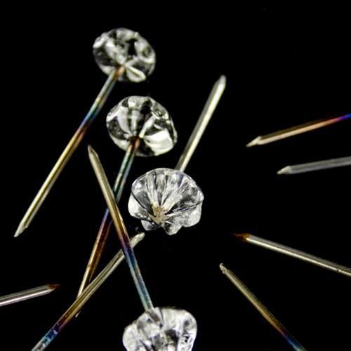 Chiodo con testa in vetro di Murano cristallo trasparente fatta a mano