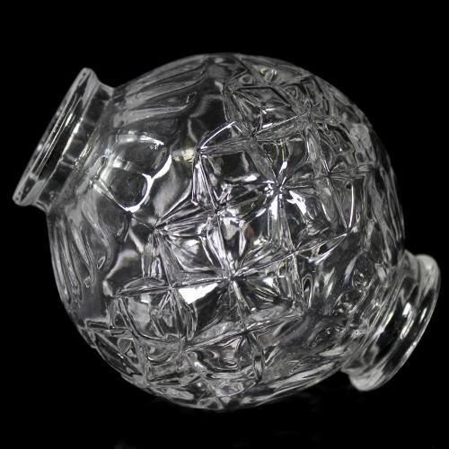 Infilaggio a sfera in vetro cristallino, altezza 9,7 cm.