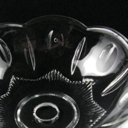 Bobeche lampadari Vetro veneziano Ø10 cm, foro Ø12 mm, con 4 fori laterali.