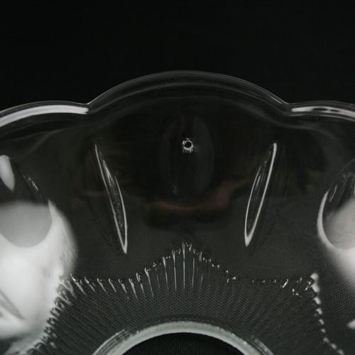Bobeche lampadari vetro veneziano Ø10 cm foro Ø24 mm 4 fori laterali per pendagli.