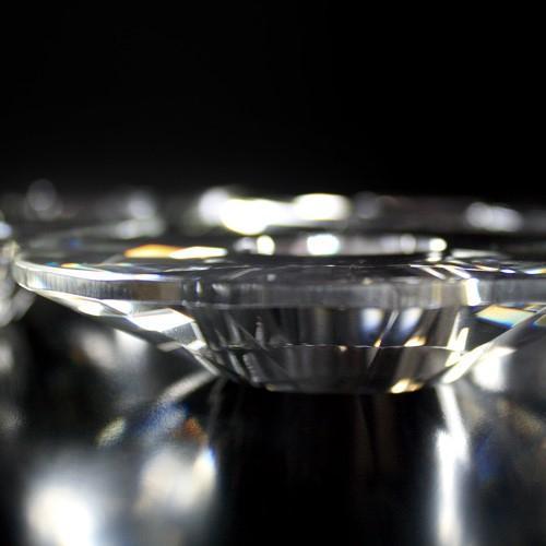 Bobeche per lampadari in cristallo molato 100x20 mm, foro Ø32 mm