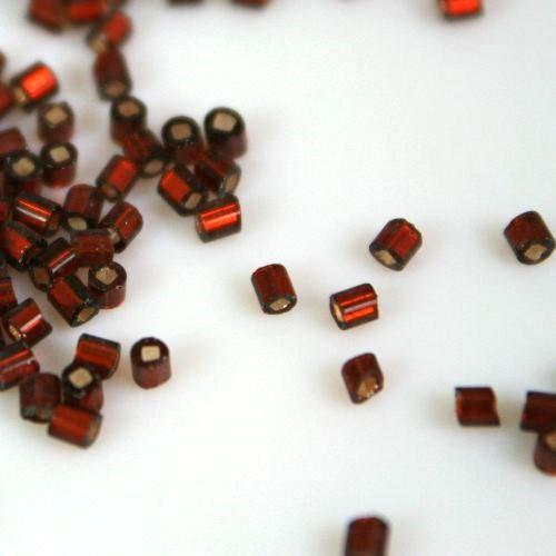 Perline di conteria ambra scuro Ø2,5 mm vetro di Murano