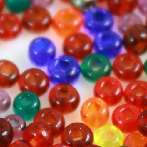 Mix perline di conteria 2.5 mm arancio rosso verde blu e ametista vetro murano