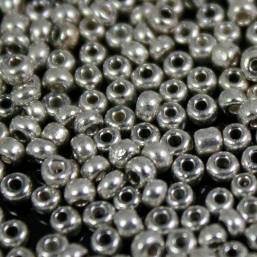 Perline di conteria argento Ø2,5 mm in vetro di Murano
