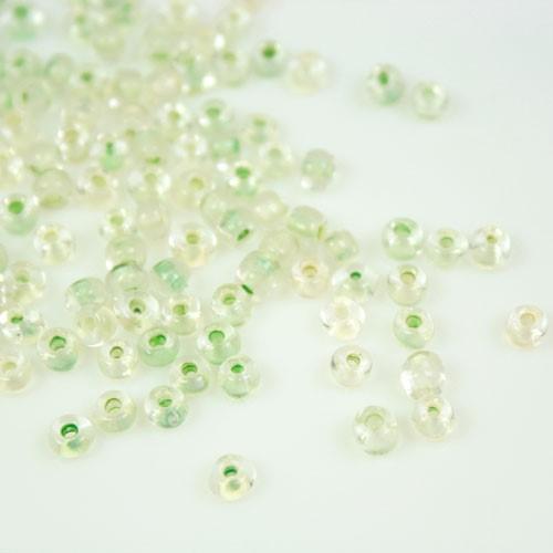 Perline di conteria verde chiaro, 3-4 mm