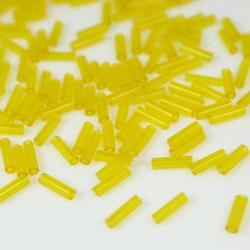 Perline di conteria a cannetta giallo trasparente, 6 mm