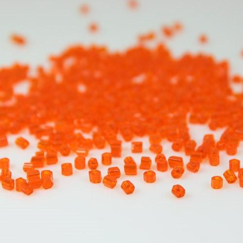 Perline di conteria cannette arancione, 2-3 mm