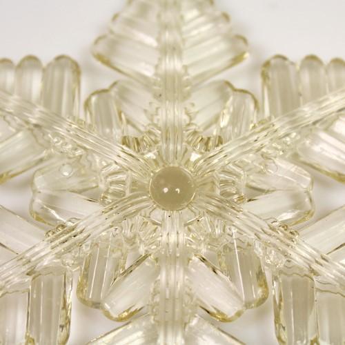 Fiocco di neve pieno 100 mm acrilico color champagne, 2 fori