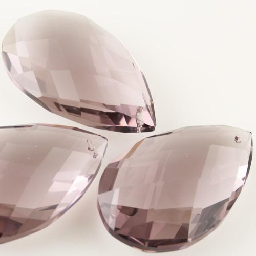 Mandorla goccia h75 mm cristallo Boemia originale ametista. Pendente originale lampadari anni '50