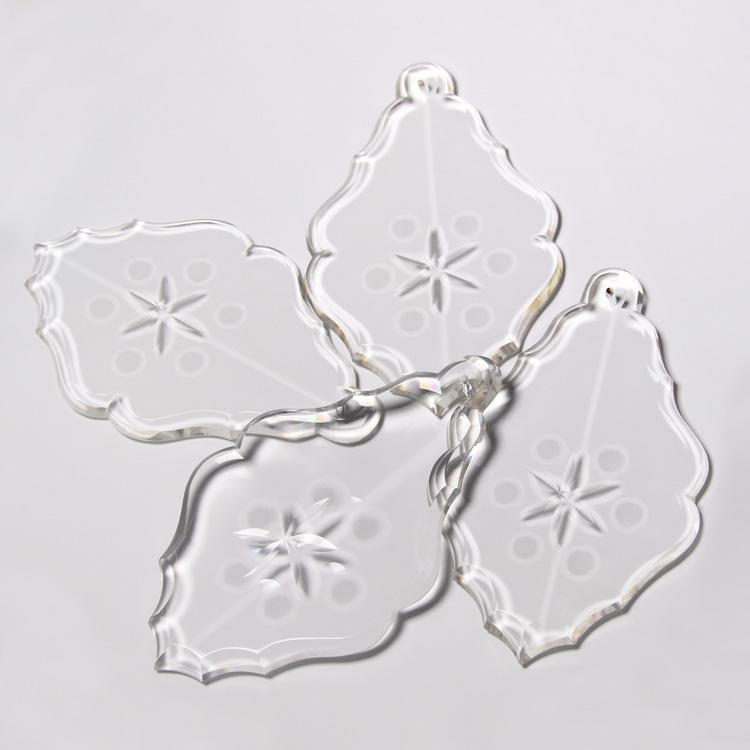 Placca cristallo Boemia 140 mm pendente cristallo molato per lampadari antichi