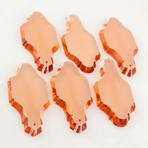 Pendente placca in cristallo di Boemia rosa 83 mm originale lampadari antichi restauro