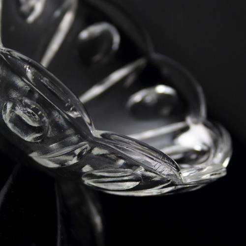Bobeche coppa in cristallo Boemia Ø12 cm, foro Ø18 mm 5 fori laterali. Tazza lampadari molata a mano.